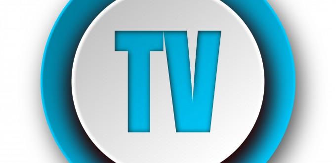 tv blue modern web icon on white background
