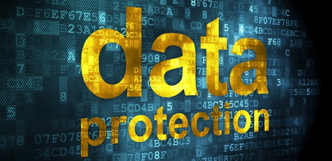 Privacy concept: Data Protection on digital background