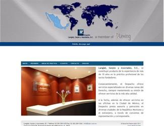 Site Langlet Carpio y Asociados SC