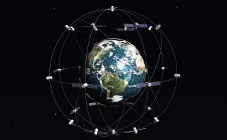 Satelite and earth. 3d illustration.