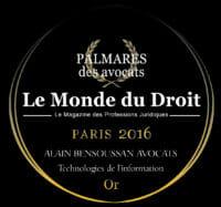 Le Monde du Droit 2016
