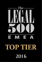 Logo Legal 500 EMEA Top Tier 2016