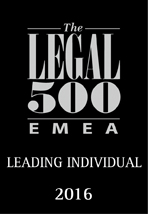 Logo Legal 500 EMEA Leading individual 2016