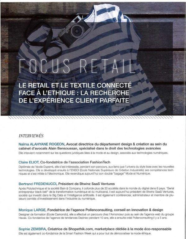 Textiles connectés et retail : aspects éthiques