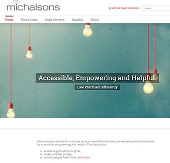 Site internet Michalsons