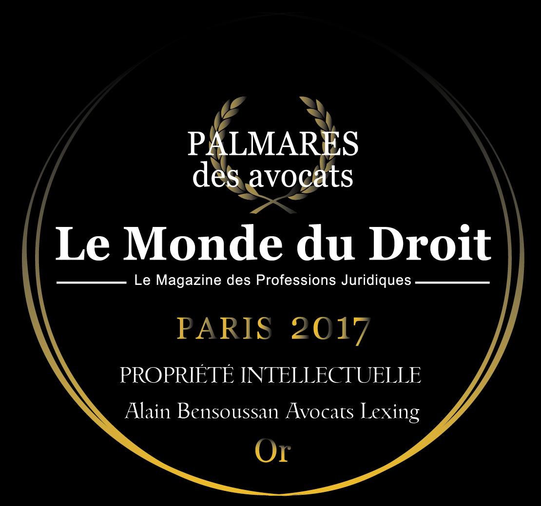 Trophée d'Or 2017 Propriété intellectuelle