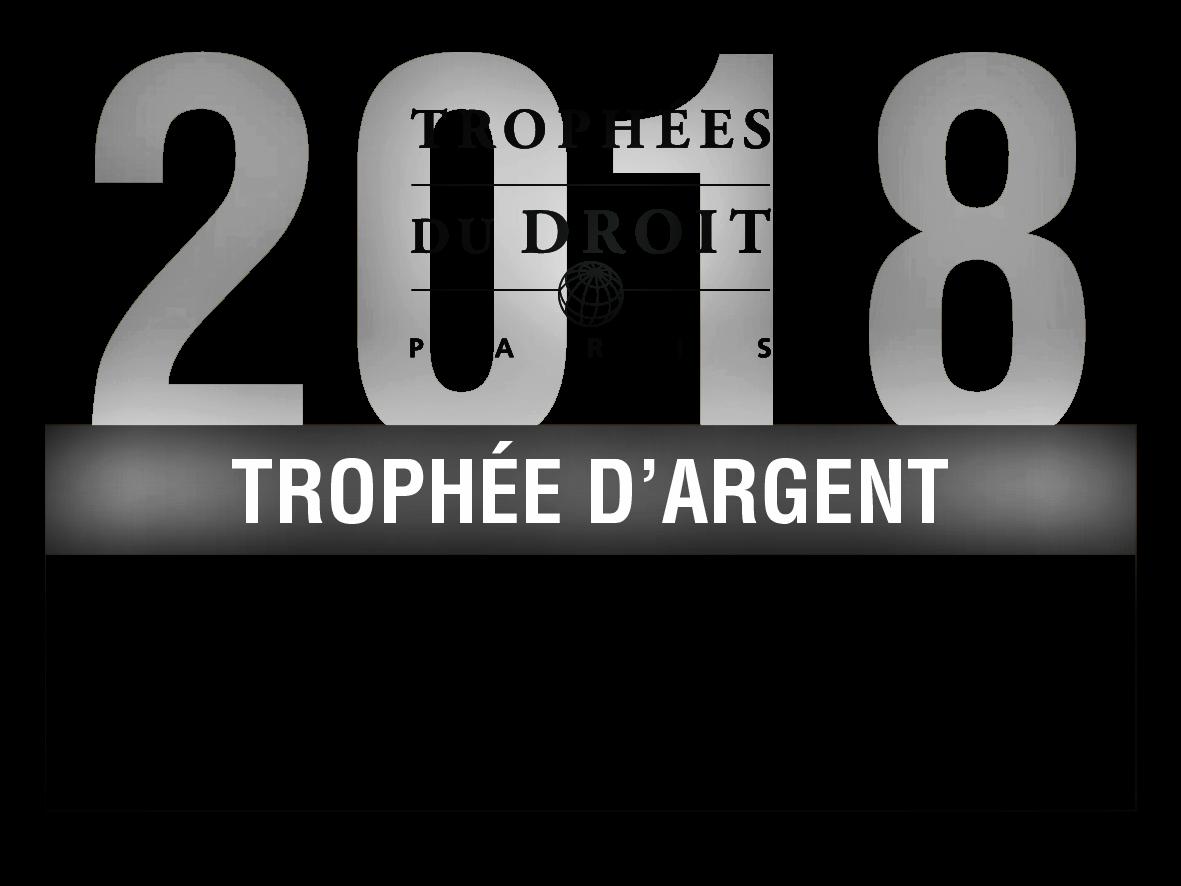 Trophée d' Argent 2018 pour le cabinet Lexing Alain Bensoussan Avocats