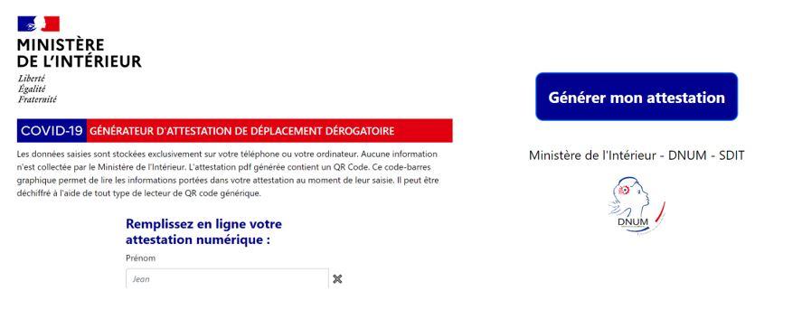 Covid 19 L Attestation De Deplacement Dematerialisee Lexing Alain Bensoussan Avocats
